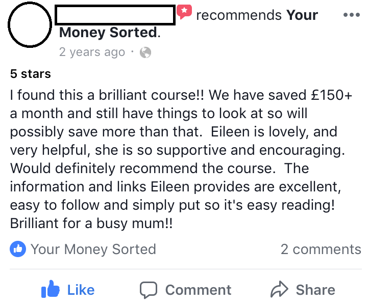your money sorted review