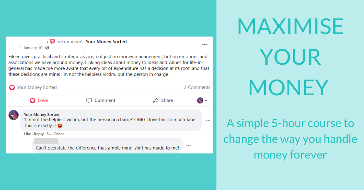 maximise your money feedback