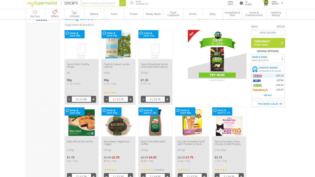 cheapest online food shopping